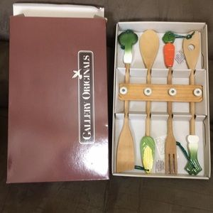 Vegetable utensils and rack